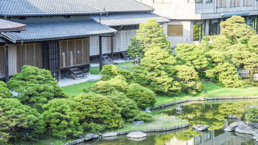 *【松濤園】クロマツに囲まれた池庭で、眺望を楽しむ観賞式の庭園