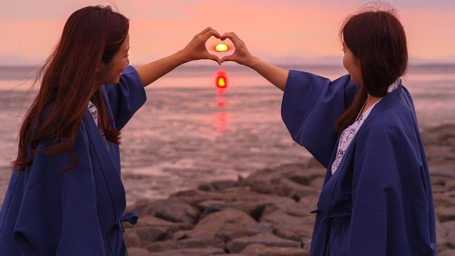 *【サンセットビューツアー】有明海の美しい夕日をご堪能ください。