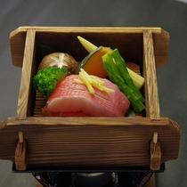 金目鯛と夏野菜のせいろ蒸し『香味たれ』