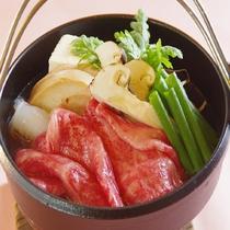 黒毛和牛と松茸のすき煮鍋