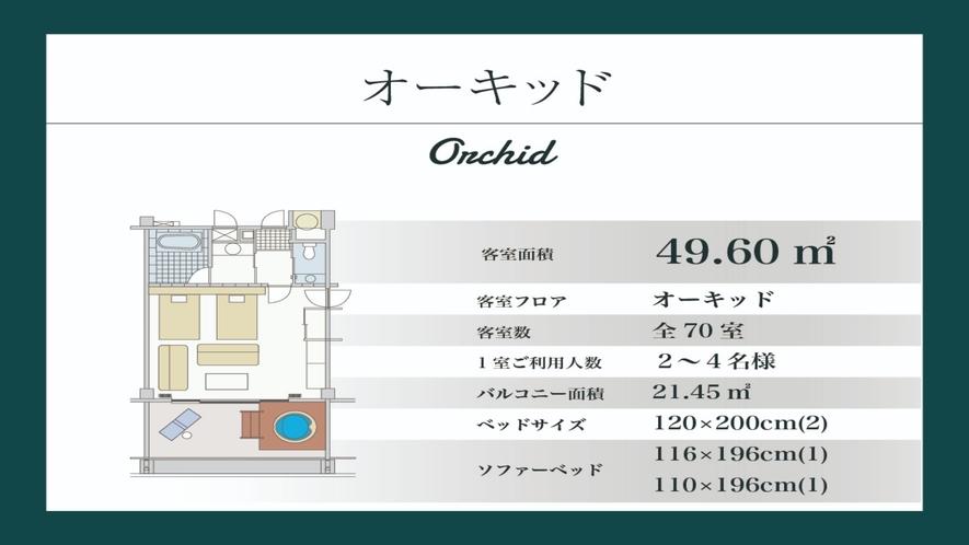 【オーキッド/49.60平米】オーキッド棟1〜4階(間取り図)