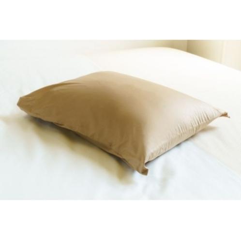 【低反発枕の茶色】低反発チップを使用した硬すぎず心地よい感触の枕です
