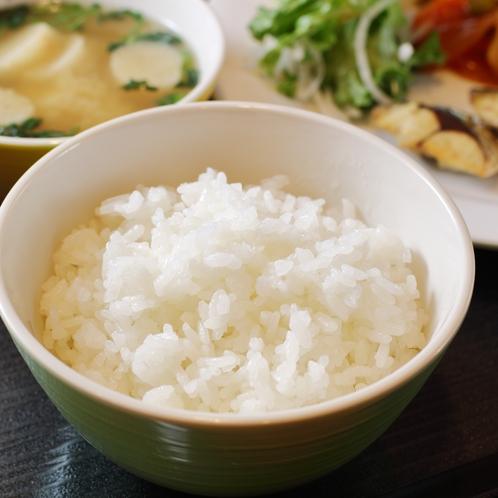 お米は石川県産。農薬を半分以下に抑えた「特別栽培米」うまみが強くおいしいお米です