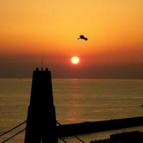 夕日百選に選ばれた夕陽です。