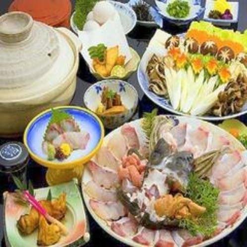 幻の高級魚 絶品クエ鍋フルコース◆冬季限定◆☆冬の一番人気☆