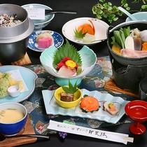 甲州名物ほうとう鍋などを中心とした郷土色豊かなお料理(イメージ)