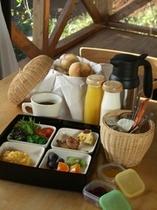 コテージへお届け朝食