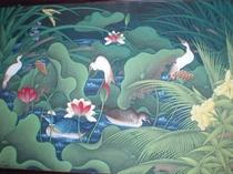 館内飾る南洋風絵画