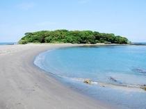 沖ノ島海水浴場お車20分