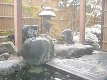 露天風呂 雪