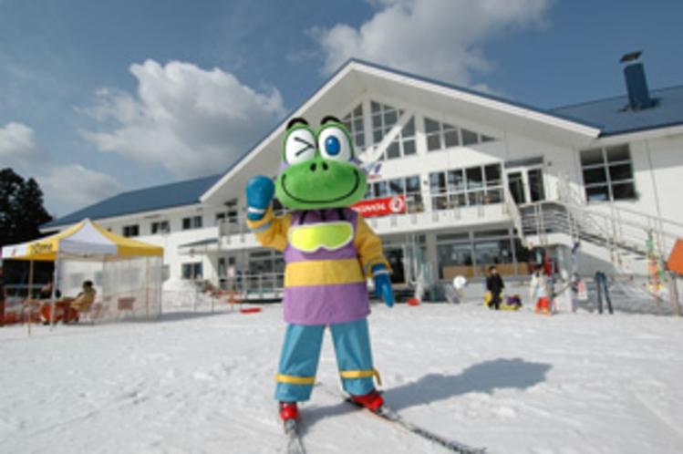 わかぶな高原スキー場マスコットキャラクター すべっ太くん