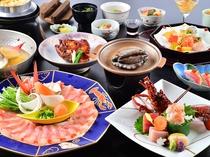 【相模湾贅沢会席】伊勢海老・鮑・金目鯛。贅沢3食材を5つの調理法で極める。