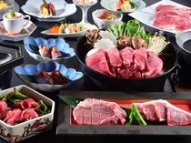 【足柄牛会席】ブランド『足柄牛』を4つの調理法で5つの部位を食べくらべ、総グラム数200g