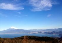 達磨山レストハウスからの富士山