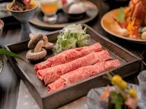 季節のお料理(和牛しゃぶしゃぶ)