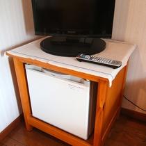 全室に冷蔵庫、テレビが設置しております。