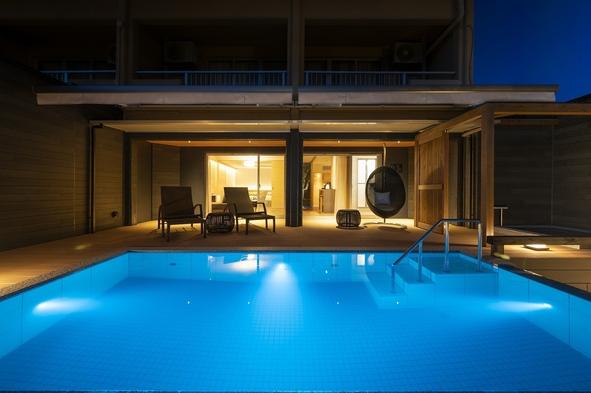 【当館で1室だけのラグジュアリー空間】プライベート温水プールと露天風呂付きスイートルームで過ごす