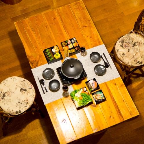季の玉手箱は【フォレストコテージ】専用の夕食です。 ※イメージ