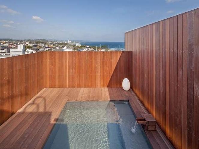 屋上に海が見える貸切露天風呂新設!