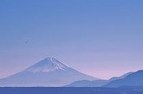 永明寺山公園から富士山を望んで