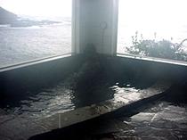 オーシャンビューの浴室
