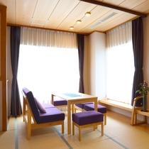 【リノベーション客室】和心地を追求したソファースペース(一例)