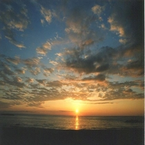 青い空と夕陽!