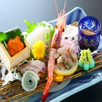 【オプションメニュー】新鮮な魚介が並ぶお刺身盛り合わせ(一例)