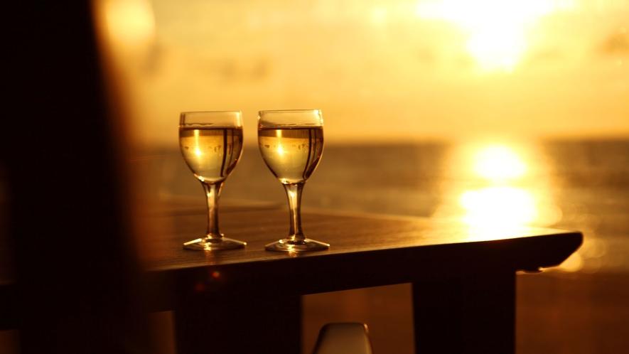 ワインと共に夕陽♪至福の時間を!
