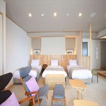 特別室。寛ぎスペースも広々!
