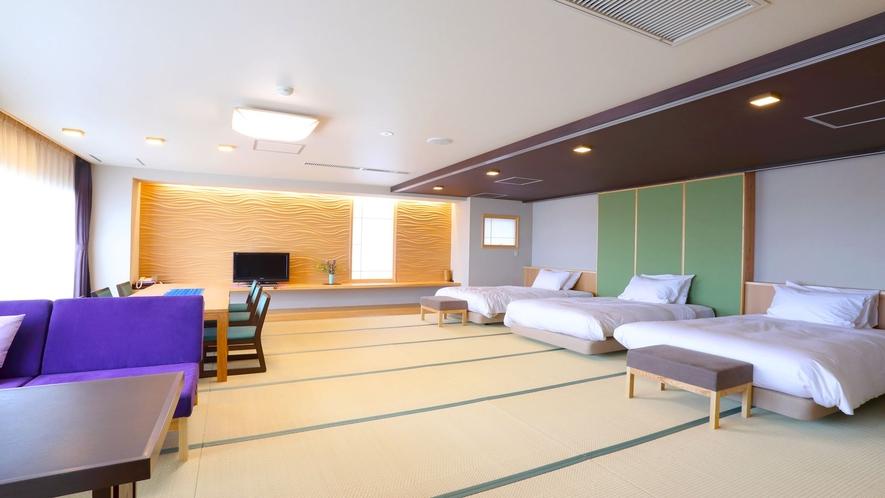 【リノベーション特別室】ベッドに居ながらにして海を一望♪(一例)