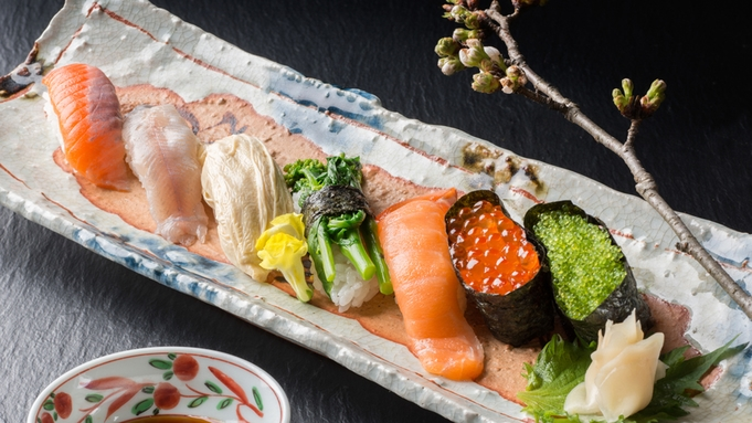 """【鮮魚祭り-入門編-】お魚重視のお客様必見♪""""山川海の幸""""で彩る、料理長厳選の『握り寿司』"""