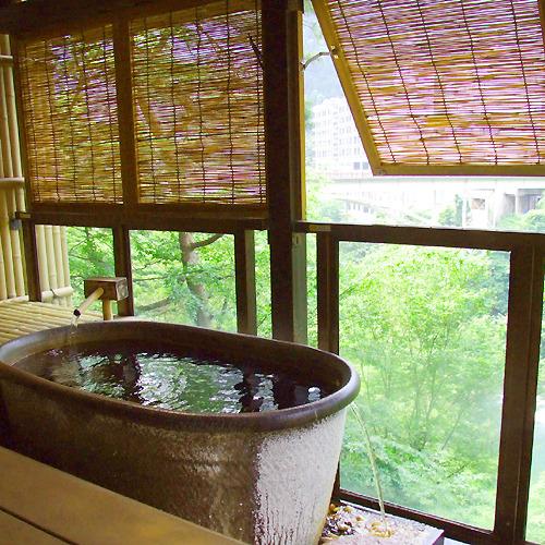 木の館露天付 露天(陶器)一例