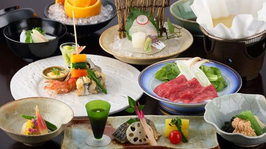 【さき楽14】14日前までのお得!旬の海幸&山幸満載☆旬の会席プラン<〜松〜>部屋食