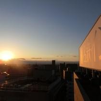 屋上からの夕焼け