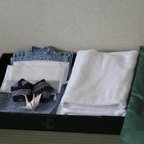 アメニティは浴衣・バスタオル・浴用タオル(歯磨きセット付き)プランによってはつかない場合がございます
