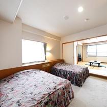 全室60室のうち、和洋室45室(14畳23㎡)バス・トイレ・洗面室付き