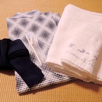 *【アメニティ】歯ブラシ、浴衣、タオルはご用意しております。