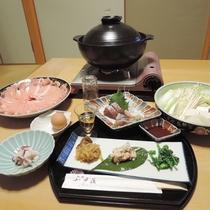 *【夕食】当館自慢の小戸鍋を是非お召し上がり下さいませ!