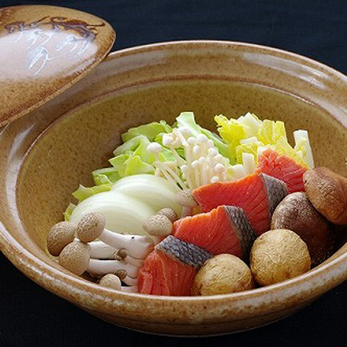 鮭味噌仕立て鍋