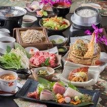 【会席料理】当館最上級の食事コースです。