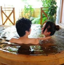古代檜の貸切露天風呂