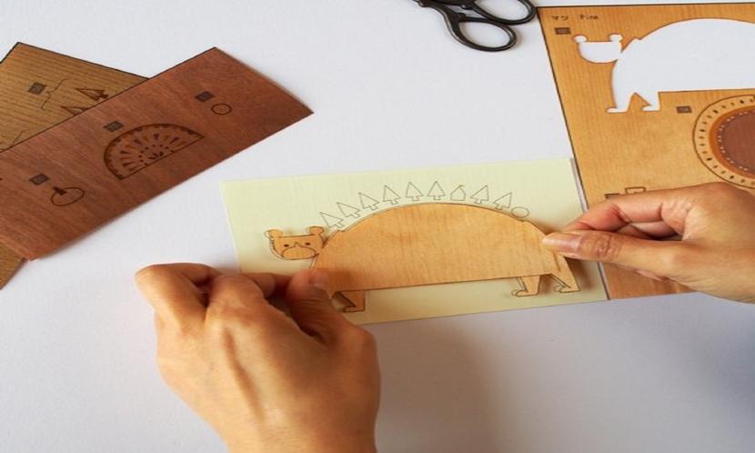 【木はり絵】ペーパークラフト感覚で、カッターとボンドさえあれば気軽にできるハンドメイドの木工アート♪