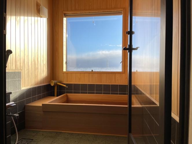 【別館展望ひのき風呂付客室】2021年リニューアル♪遠くに猪苗代湖を望めます♪