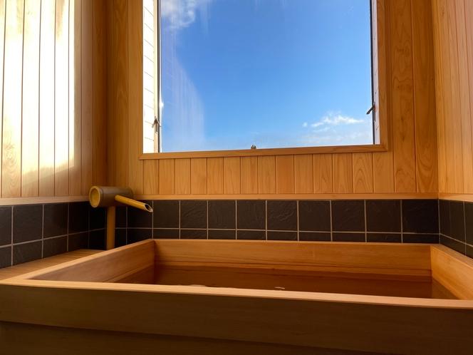 【別館展望ひのき風呂付客室】お部屋でゆったりとお過ごしいただけます♪