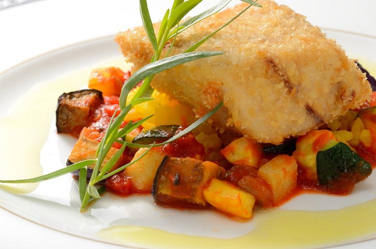 【メイン:魚料理(基本プラン)一例】季節により内容が異なります。