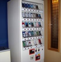 たばこの自動販売機 喫煙コーナー内にございます。