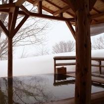 【雪見の露天風呂】