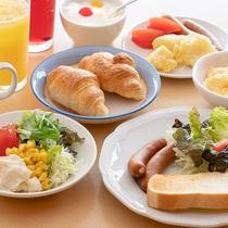 朝食バイキング 盛り付け例