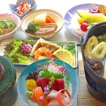 *【夕食一例】その日仕入れた食材を使用して。
